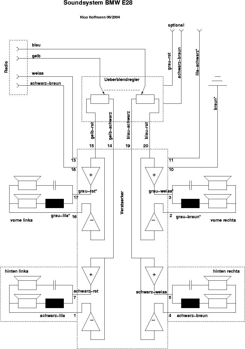 Gemütlich Auto Sound Schaltplan Ideen - Elektrische Schaltplan-Ideen ...